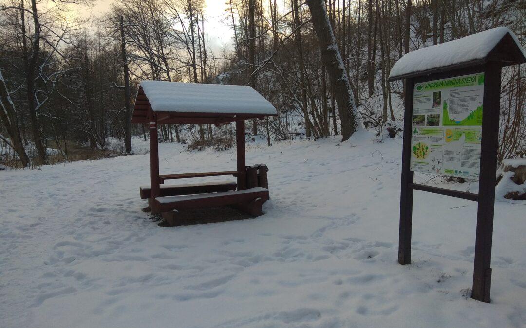 Zimní fotografie ze stezky